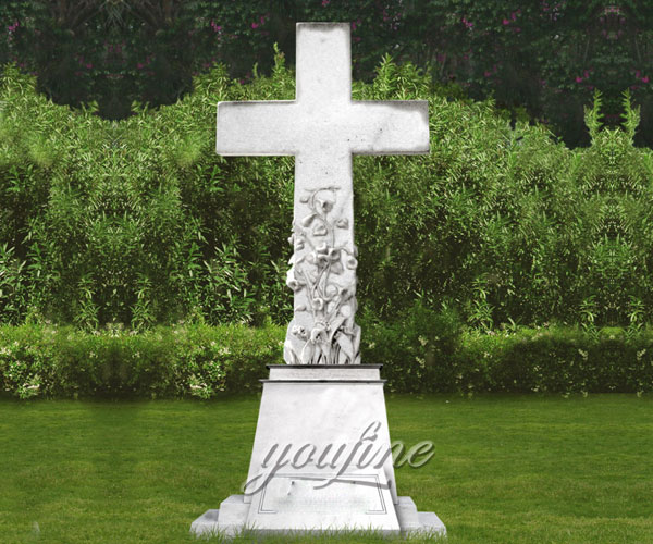 Hot Selling Classic marble cross monuments and headstones for sale