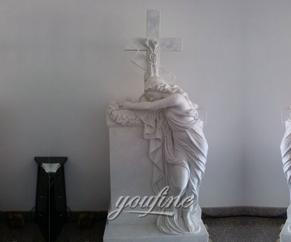 Pure white marble crosses religious cemetery headstones price