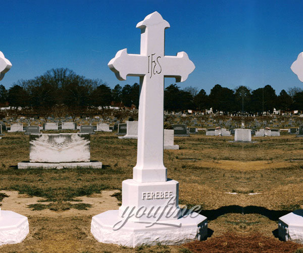 Classical hand carved cross cemetery monuments design prices