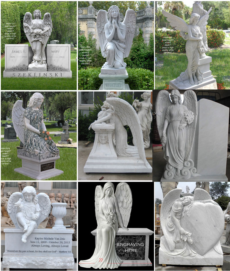 angel headstone design