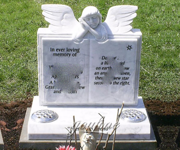 Affordable price baby angel with book tombstone design