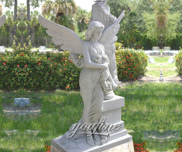 Best Detailed Carvings angel marble headstone for grave decorations cost