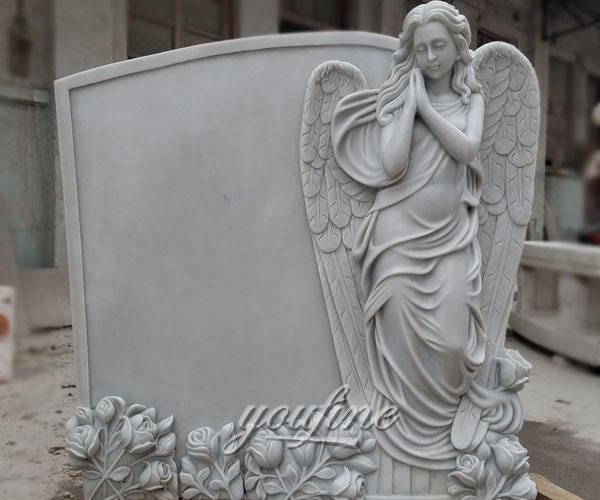 European Monument Hand Carved marble angel headstones price