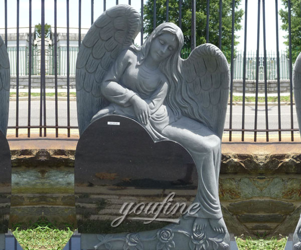 Granite stone Angel Heart Shaped Granite Tombstone grave markers