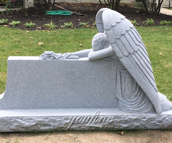 Granite stone weeping angel tombstone maker