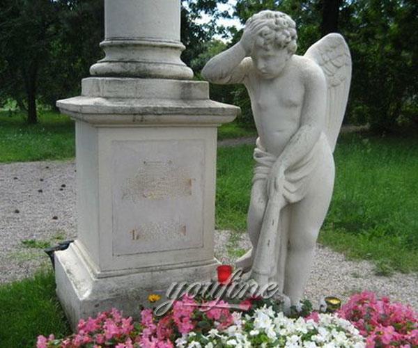 Grave decoration cherub statue design costs