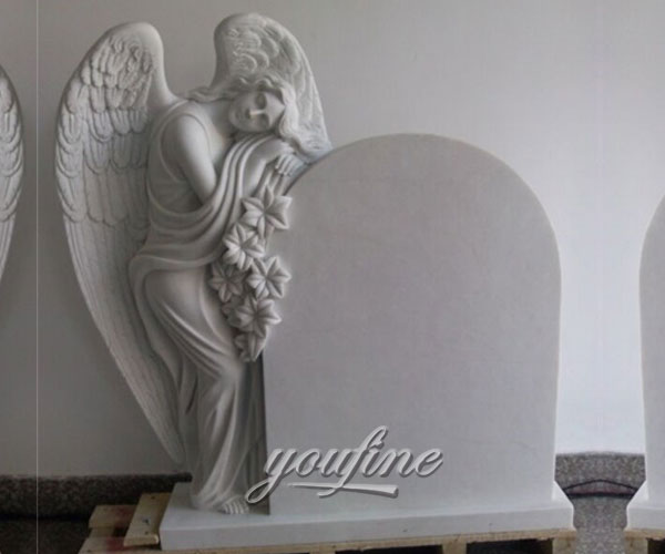 Grave decoration white marble angel of grace to buy