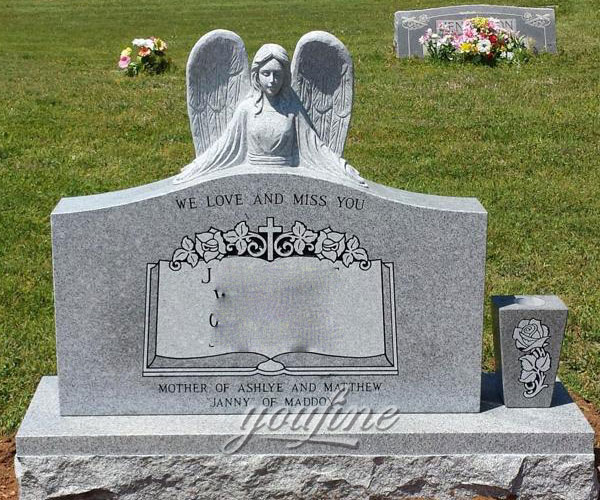 Hot selling granite angel affordable headstones for grave