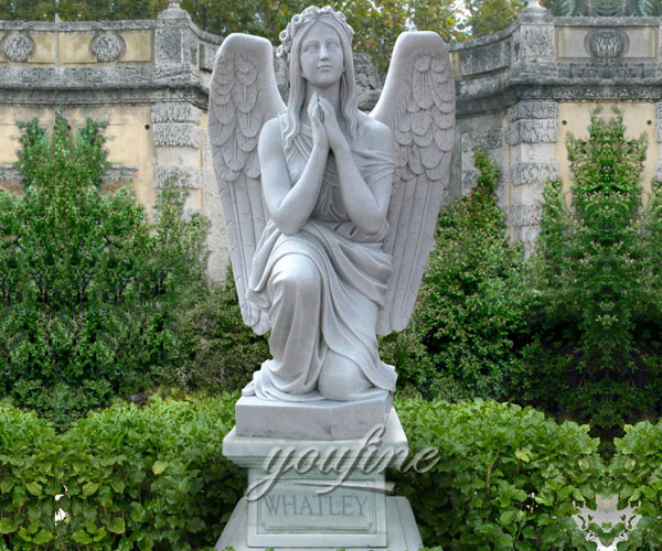 New Designs High Quality exquisite design kneeling angel monuments headstones quotes