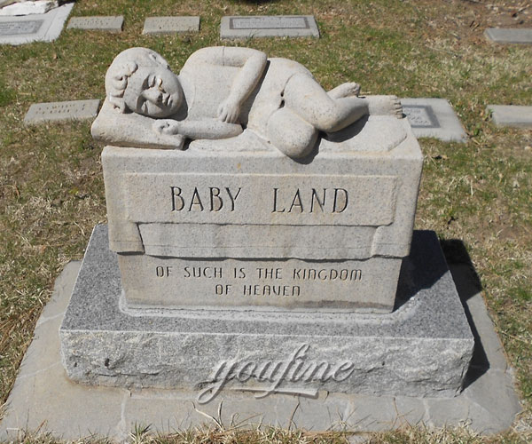 Sleeping baby cemetery headstones design to buy