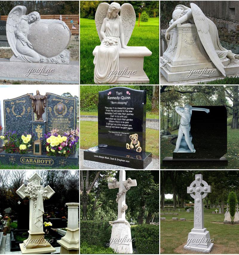 Angel Gravestone with Heart
