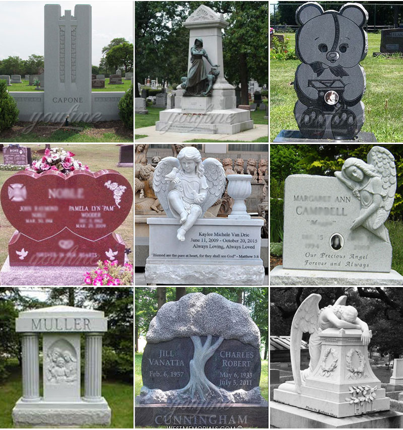 headstone designs for grave on sale