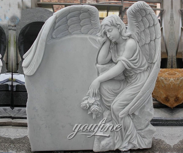 how to buy Hand Carved Angel marble stone cheap headstones