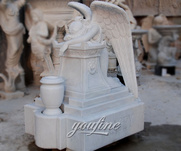 how to buy weeping angel affordable headstone with grave vase