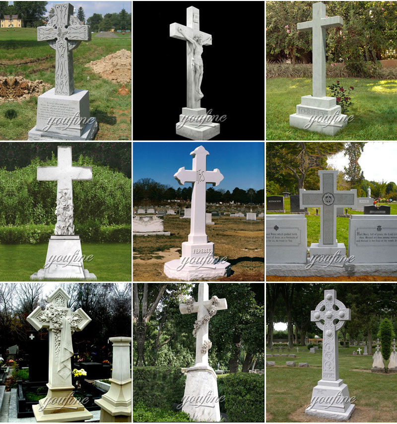 marble cross headstone designs