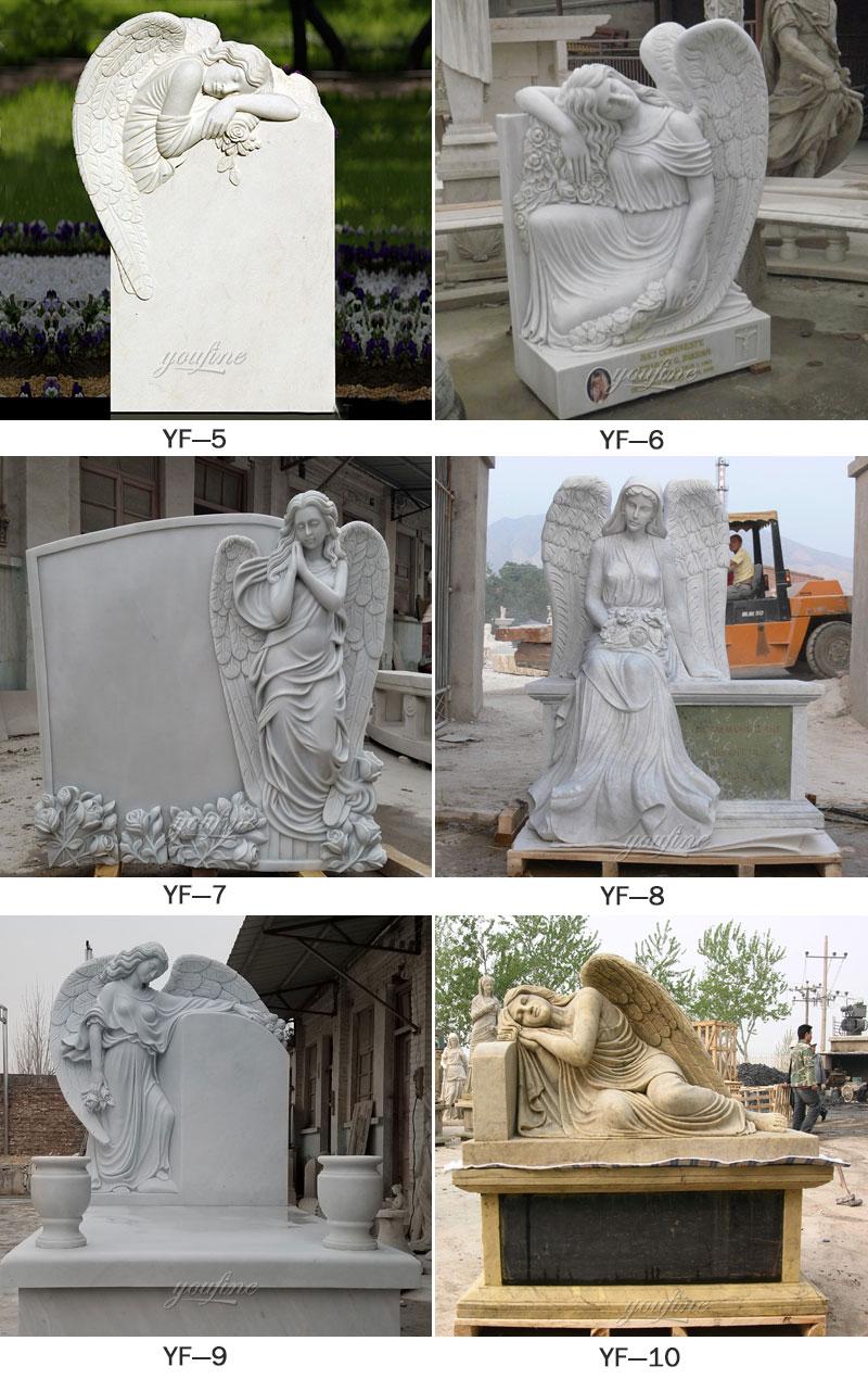 marble elegant angel tombstones for sale