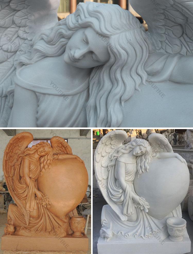 Life size angel memorials headstones