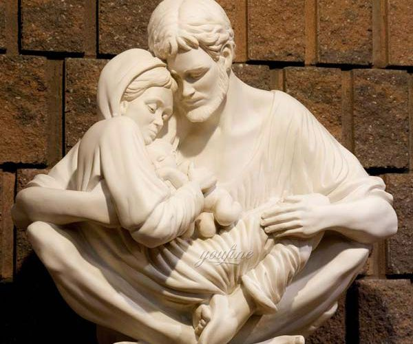 holy family marble statue