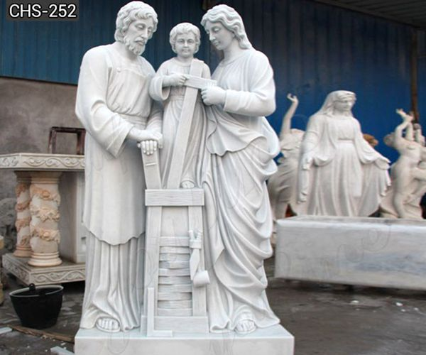 holy family marble stone statue