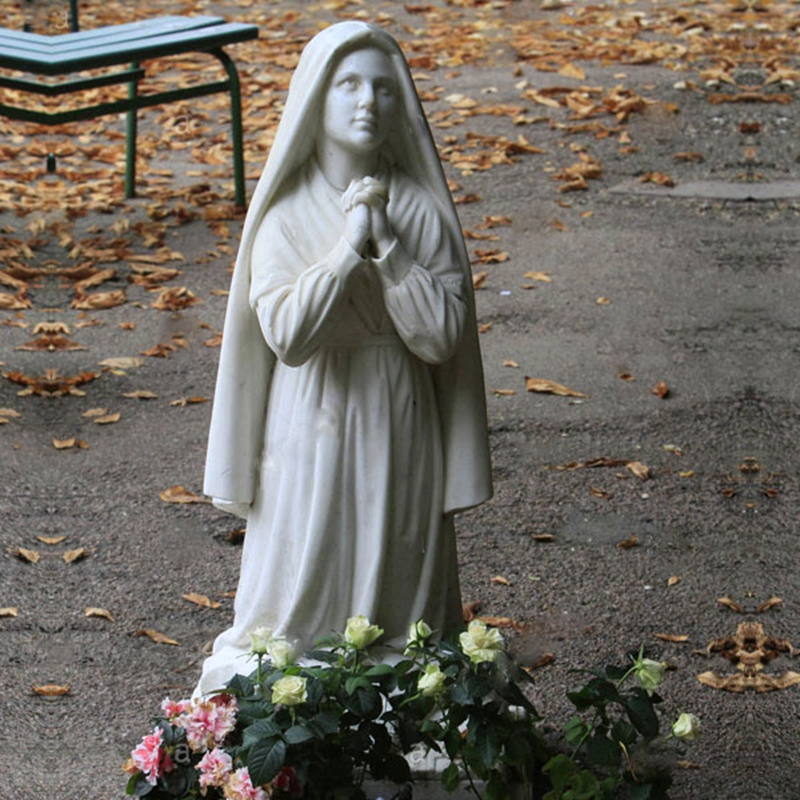 catholic garden statues