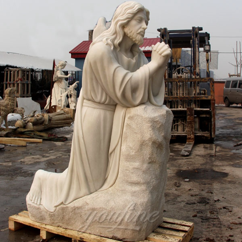 jesus christ statue in white marble