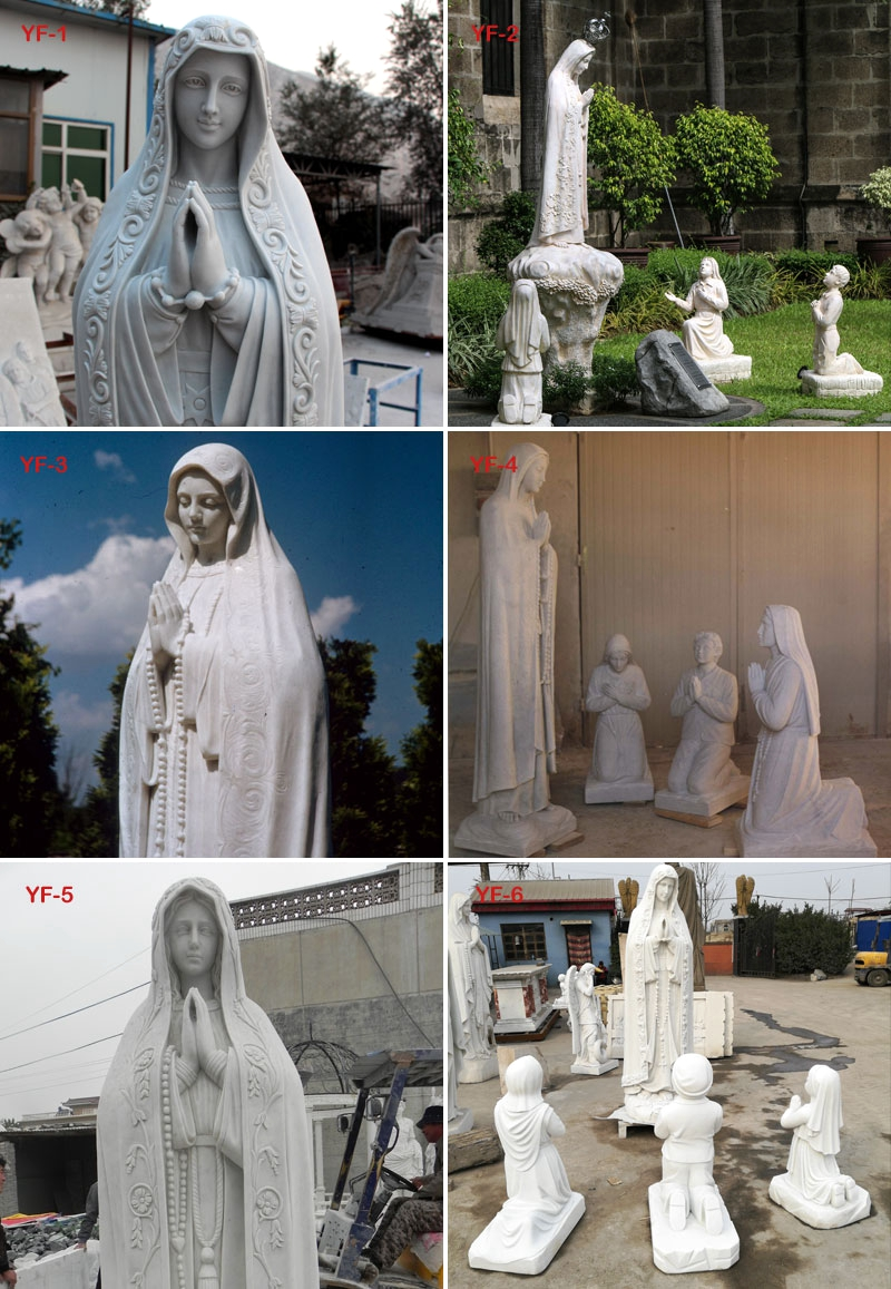 virgin Mary marble statue outdoor