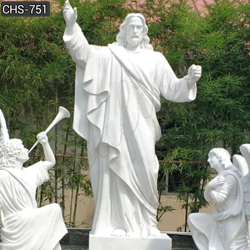 white marble jesus sculpture