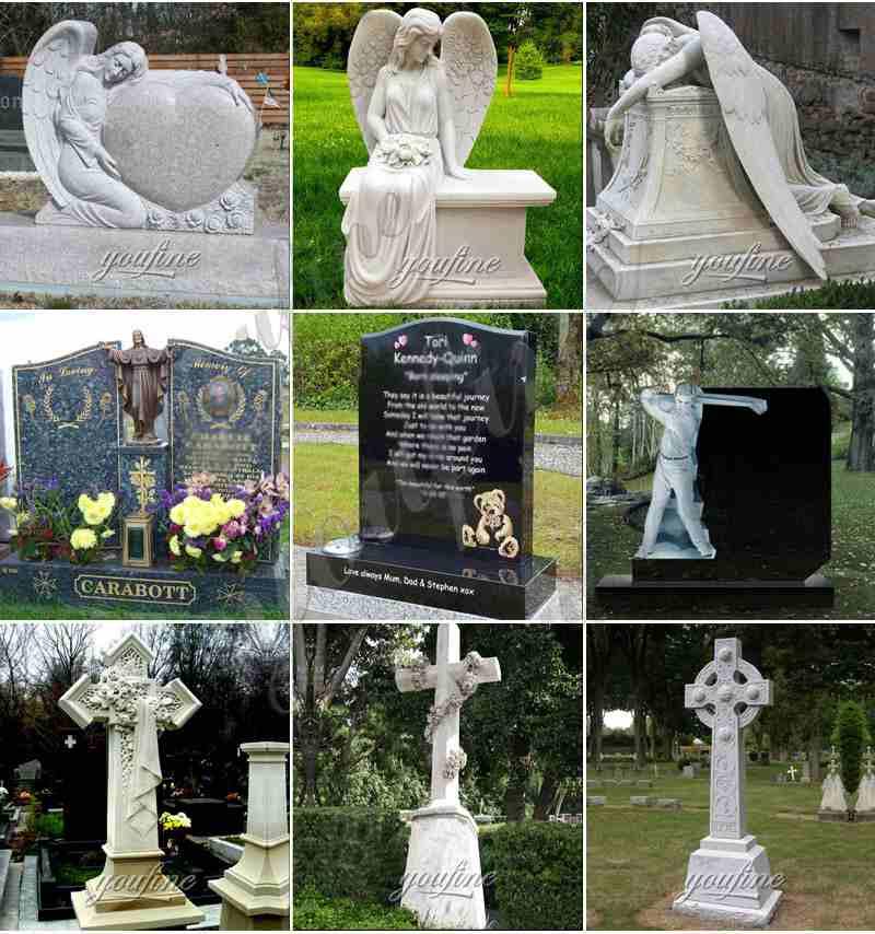 Customized Religious Cross Marble Headstone