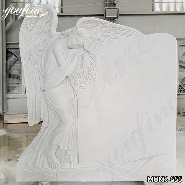Marble Angel Memorial Headstones China Supplier