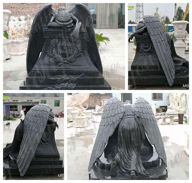 Granite Angel Headstone Sculpture