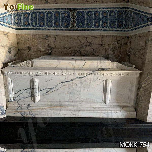 High-quality Marble Mausoleum Headstone Designs from Factory Supplier MOKK-754