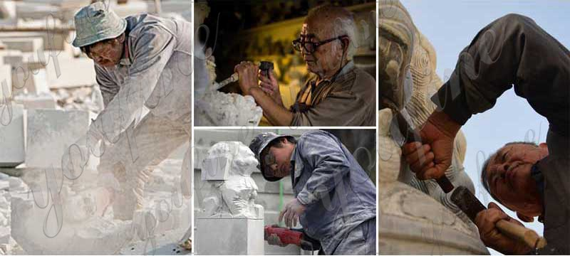Marble Angel Memorial Headstones Supplier MOKK-655 (2)