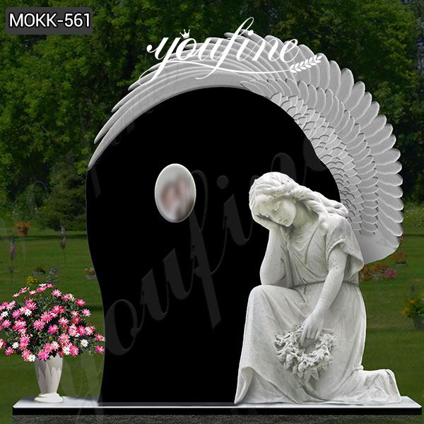 Black Weeping Angel Tombstone for graves Supplier MOKK-561Black Weeping Angel Tombstone for graves Supplier MOKK-561