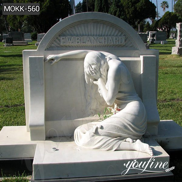Marble Crying Angel Tombstone China Factory MOKK-560