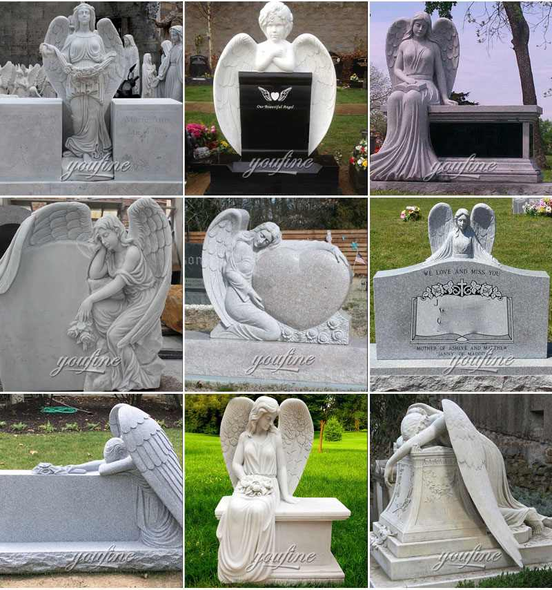 Weeping Angel Tombstone for graves Supplier MOKK-561