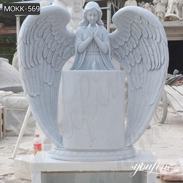 Marble Angel Headstone monument for sale MOKK-569