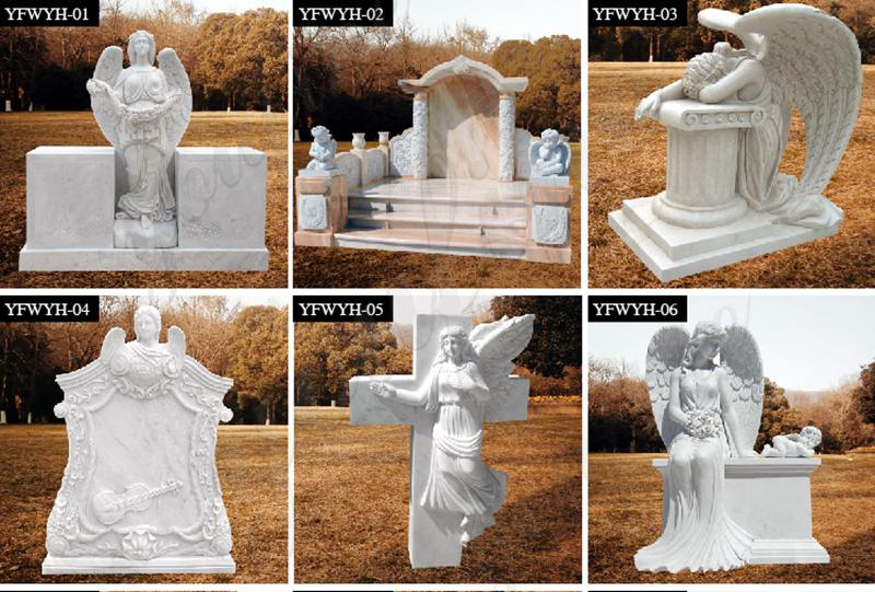Natural Angel Headstone monument for sale MOKK-569