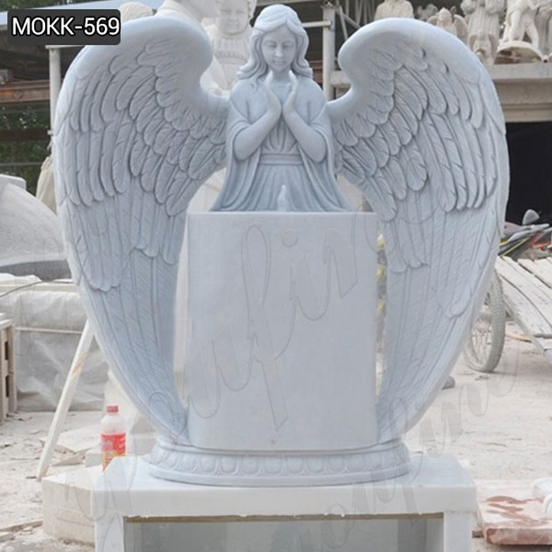 Natural Marble Angel Headstone monument for sale